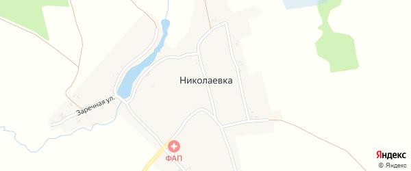 Заречная улица на карте села Николаевки с номерами домов