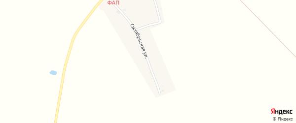 Октябрьская улица на карте села Николаевки с номерами домов