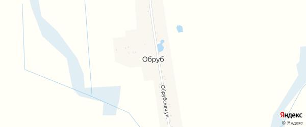 Обрубская улица на карте поселка Обруба с номерами домов