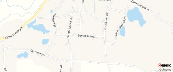 Зеленый переулок на карте села Перелазов с номерами домов