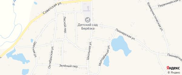 Школьная улица на карте села Перелазов с номерами домов