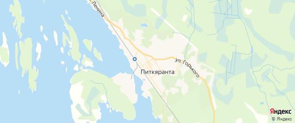Карта Питкяранты с районами, улицами и номерами домов: Питкяранта на карте России