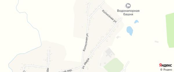 Колхозная улица на карте села Перелазов с номерами домов