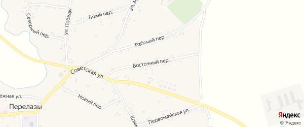 Восточный переулок на карте села Перелазов с номерами домов