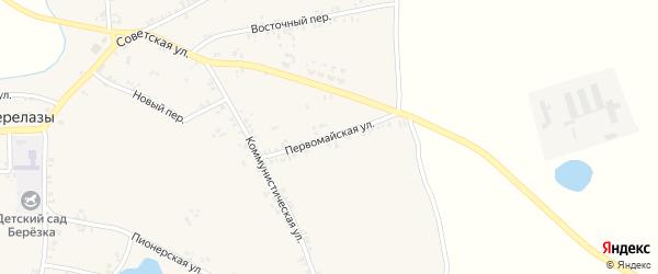 Первомайская улица на карте села Перелазов с номерами домов