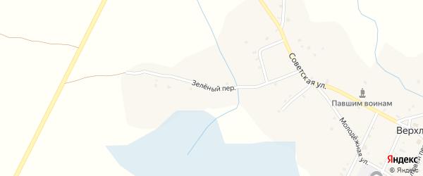 Зеленый переулок на карте села Верхличей с номерами домов