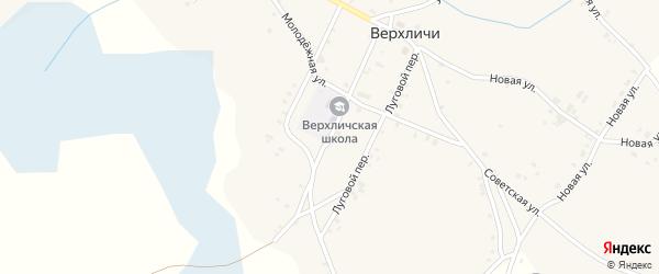 Школьный переулок на карте села Верхличей с номерами домов