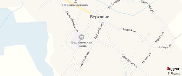 Молодежная улица на карте села Верхличей с номерами домов