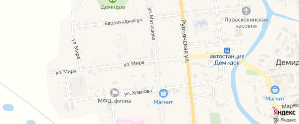 Улица Мира на карте Демидова с номерами домов