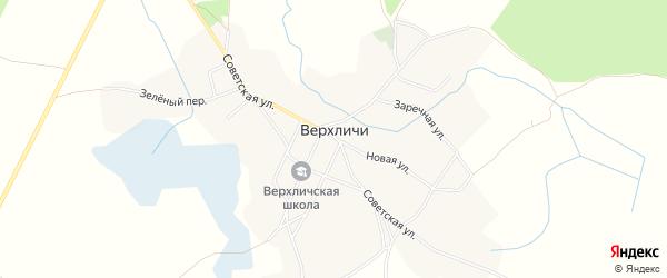 Карта села Верхличей в Брянской области с улицами и номерами домов