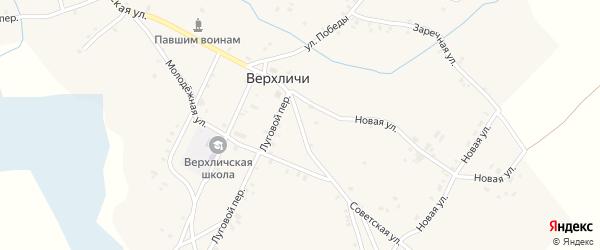 Советская улица на карте села Верхличей с номерами домов