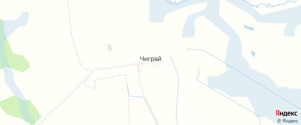Карта деревни Чиграи в Брянской области с улицами и номерами домов