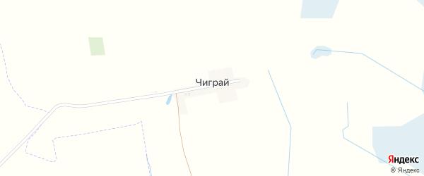 Луговая улица на карте деревни Чиграи с номерами домов