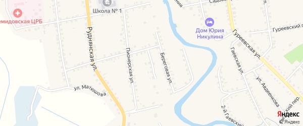 Пионерский переулок на карте Демидова с номерами домов