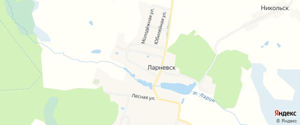 Карта деревни Ларневска в Брянской области с улицами и номерами домов
