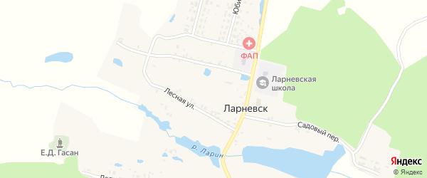 Заречная улица на карте деревни Ларневска с номерами домов