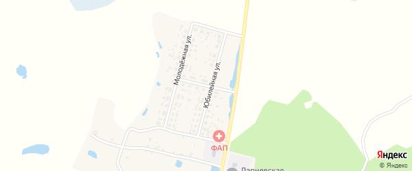 Больничный переулок на карте деревни Ларневска с номерами домов