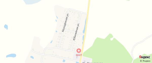 Юбилейная улица на карте деревни Ларневска с номерами домов