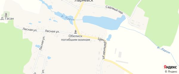 Центральная улица на карте деревни Ларневска с номерами домов