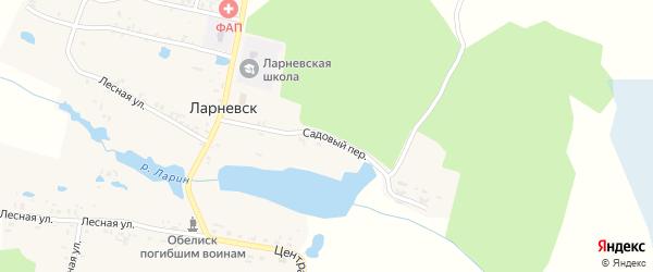 Садовый переулок на карте деревни Ларневска с номерами домов