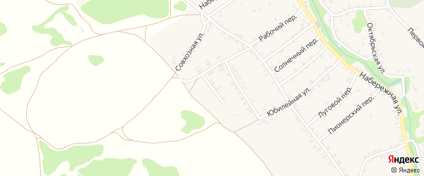 Концевая улица на карте деревни Любовшо с номерами домов
