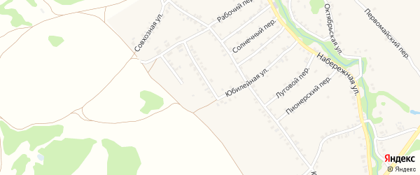 Юбилейная улица на карте деревни Любовшо с номерами домов