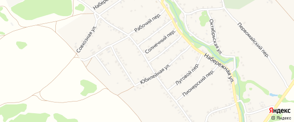 Совхозная улица на карте деревни Любовшо с номерами домов