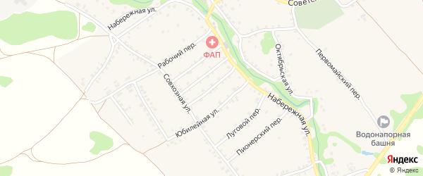 Комсомольский переулок на карте деревни Любовшо с номерами домов