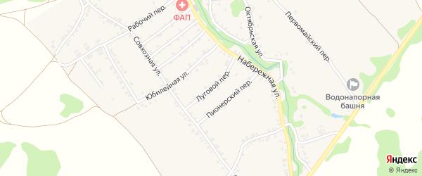 Луговой переулок на карте деревни Любовшо с номерами домов
