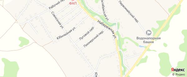 Пионерский переулок на карте деревни Любовшо с номерами домов