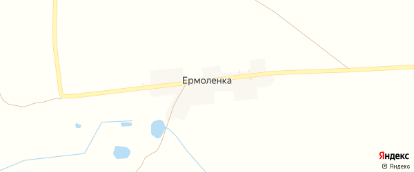 Луговая улица на карте деревни Ермоленки с номерами домов