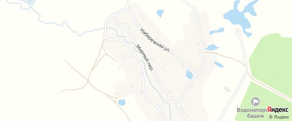 Мирный переулок на карте села Лотаки с номерами домов