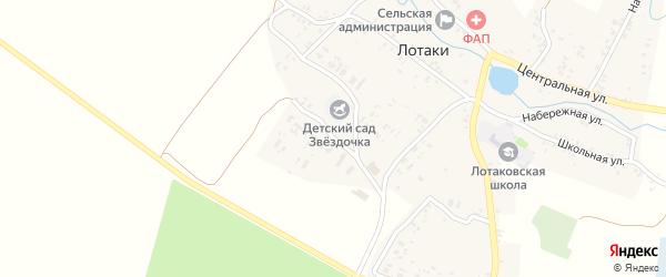 Садовая улица на карте села Лотаки с номерами домов