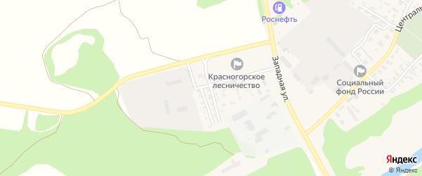 Мелиоративная улица на карте поселка Красной Горы с номерами домов