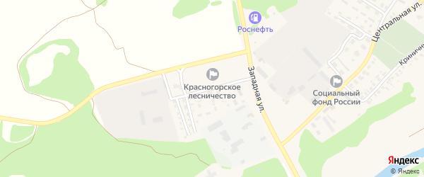 Мелиоративный переулок на карте поселка Красной Горы с номерами домов