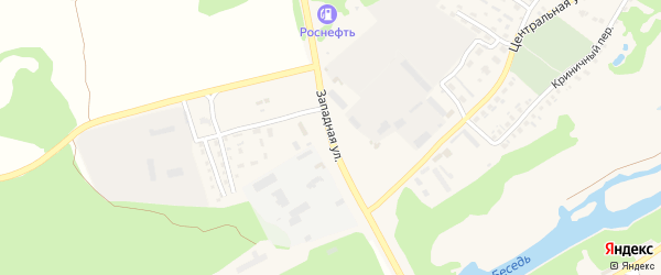 Западная улица на карте поселка Красной Горы с номерами домов