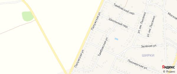 Палужская улица на карте поселка Красной Горы с номерами домов