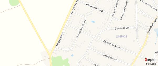 Тамбовская улица на карте поселка Красной Горы с номерами домов