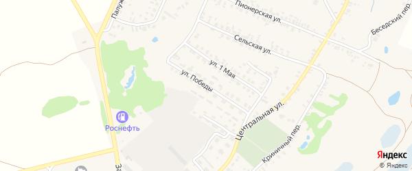 Улица Победы на карте поселка Красной Горы с номерами домов
