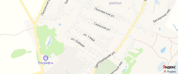 1 Мая улица на карте поселка Красной Горы с номерами домов
