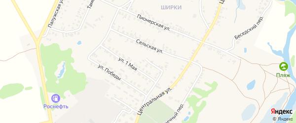 Овражный переулок на карте поселка Красной Горы с номерами домов