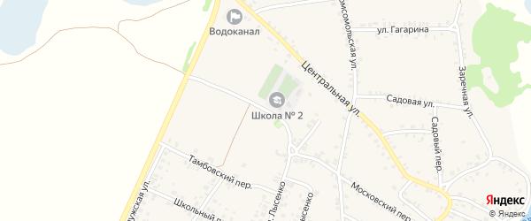 Московский переулок на карте поселка Красной Горы с номерами домов