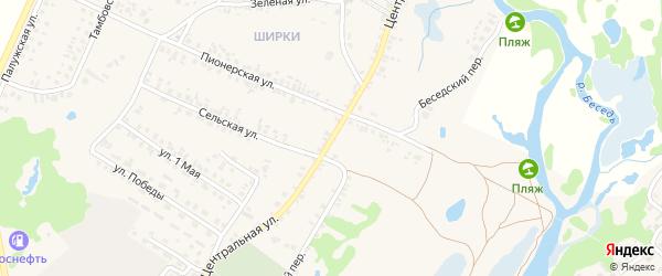 Центральная улица на карте поселка Красной Горы с номерами домов