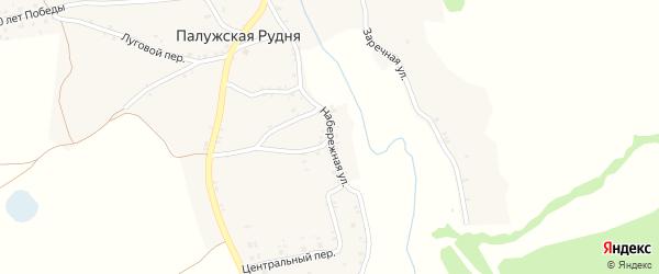 Набережная улица на карте деревни Палужской Рудни с номерами домов
