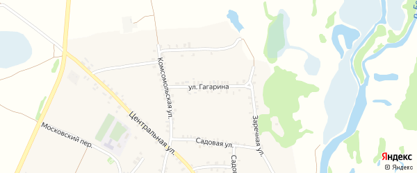 Улица Гагарина на карте поселка Красной Горы с номерами домов