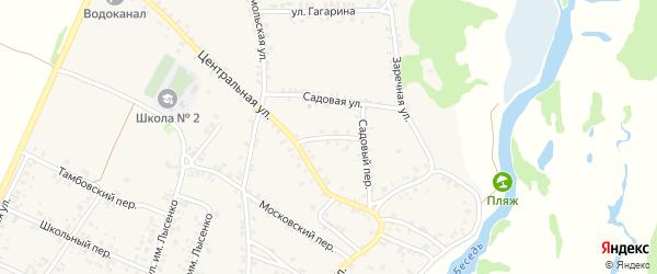 Цветочный переулок на карте поселка Красной Горы с номерами домов