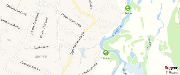 1-й Центральный переулок на карте поселка Красной Горы с номерами домов