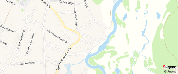 1-й Заречный переулок на карте поселка Красной Горы с номерами домов