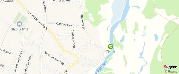 Заречная улица на карте поселка Красной Горы с номерами домов