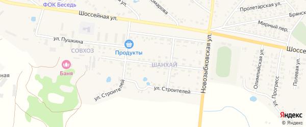 Улица Дружбы на карте поселка Красной Горы с номерами домов